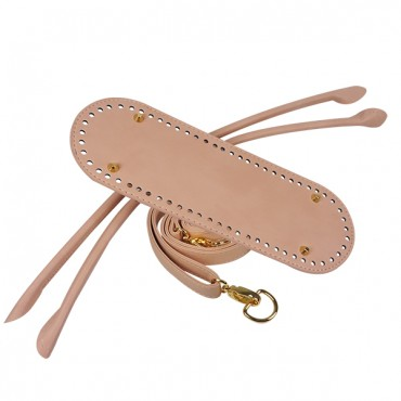 Bag set - Chloe SmartTop - faux leather - Pale pink with golden metal details
