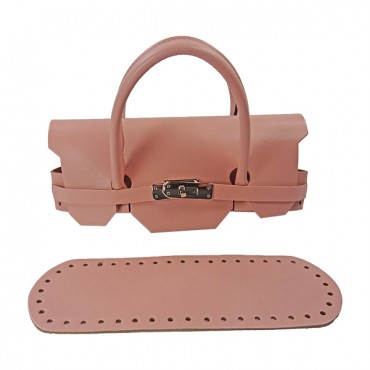 Set Borsa Mini Birkin ecopelle Cipria