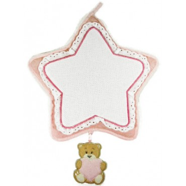 Bow Birth - embroidery - Star - Pink