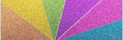 glitter rubberized sheets